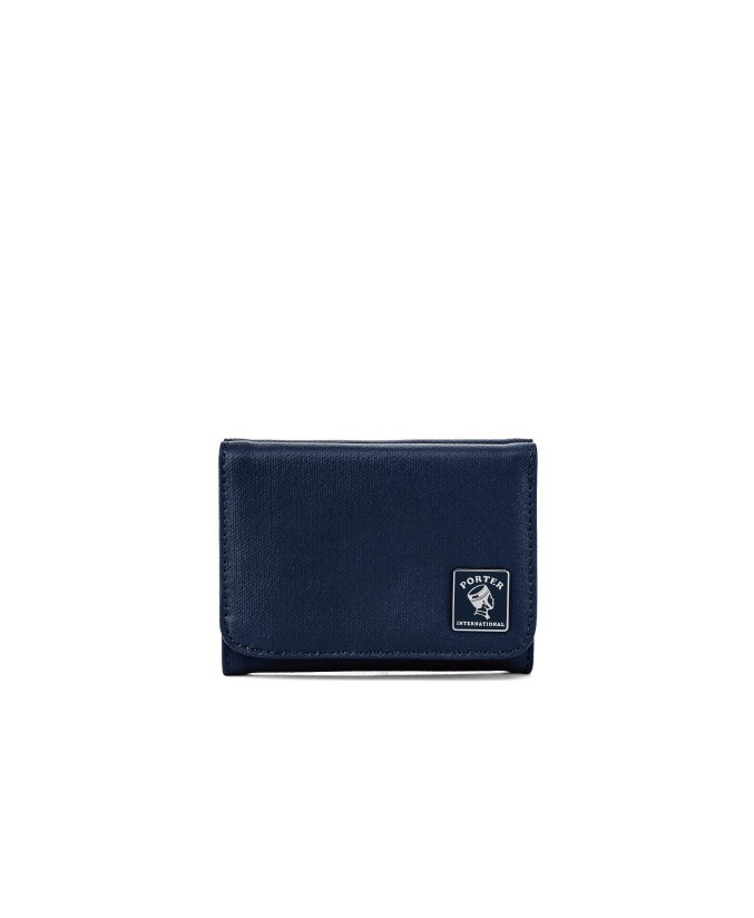 PORTER INTERNATIONAL MILKY PLUS DEEP BLUE Wallet Classic Canvas Snap closure New